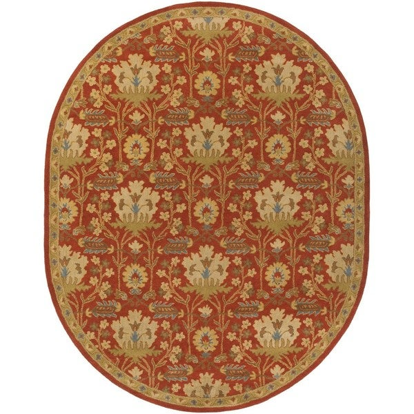 Copper Grove Kavir Hand-Tufted Floral Wool Oval Area Rug - 8' x 10'