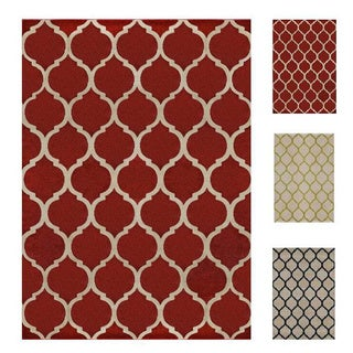 Home Dynamix Antiqua Collection Contemporary Off-White Area Rug (3' x 4')