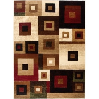 Home Dynamix Brown Tribeca Collection Multi Machine Made Polypropylene Area Rug (9'2 x 12'5)