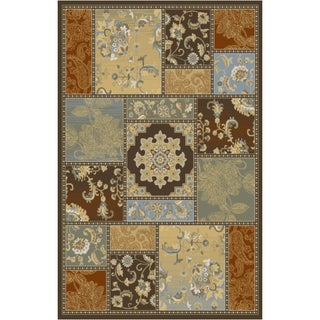Home Dynamix Triumph Collection Brown-Multi (7'9 X 10'2) Machine Made Polypropylene Area Rug