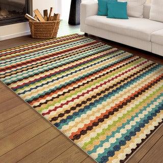 Carolina Weavers Cocamo Collection Connoisseur Multi Area Rug (6'5 x 9'8)