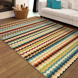 Aria Collection Nik Nak Gemstone Olefin Area Rug (7'8 x 10'10)