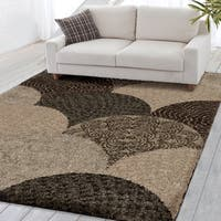 Carolina Weavers Grand Comfort Collection Austral Multi Shag Area Rug - 6'7 x 9'8