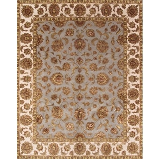 Pasargad Agra Hand-Knotted Ivory-Camel Silk and Wool Rug (8' x 10')