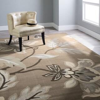 Carolina Weavers Finesse Collection Floweret Grey Area Rug (6'7 x 9'8)