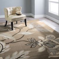 Carolina Weavers Finesse Collection Floweret Grey Area Rug - 6'7 x 9'8