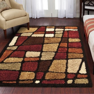Carolina Weavers Shag Scene Collection Rove Multi Shag Area Rug (6'7 x 9'8)