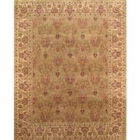 Pasargad Tabriz Hand-Knotted L.Green-Gold Wool Rug (8' x 10') - 8 x 10
