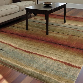 Carolina Weavers Comfy and Cozy Grand Comfort Collection Field of Vision Multi Shag Area Rug (6'7 x 9'8)