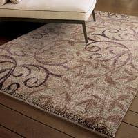 Carolina Weavers Comfy and Cozy Grand Comfort Collection Toro Beige Shag Area Rug (6'7 x 9'8)