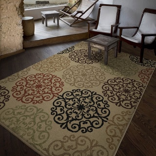 Carolina Weavers Bermuda Collection Pedro Beige Area Rug (6'5 x 9'8)