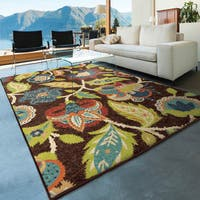 Havenside Home Anahuac Indoor/ Outdoor Brown Area Rug - 6'5 x 9'8
