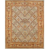 Pasargad Bakhshayesh Hand-Knotted Light Blue-Camel Wool Rug (8' x 10') - 8 x 10