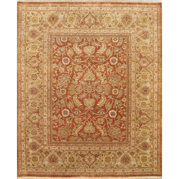 Pasargad Khotan Persian Wool Area Rug 8 X10: Shop Pasargad Sultanabad Hand-Knotted Camel-Gold Wool Rug
