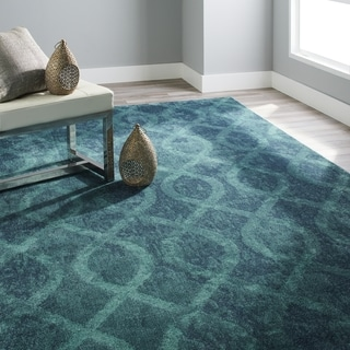 Carolina Weavers Brighton Collection Coil Blue Area Rug (7'10 x 10'10)