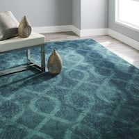 Havenside Home Merrick Coil Blue Area Rug - 7'10 x 10'10