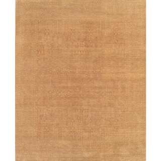 Pasargad Asian Art Hand-Knotted Rust-Gold Wool Rug (8' x 10') - 8' x 10'