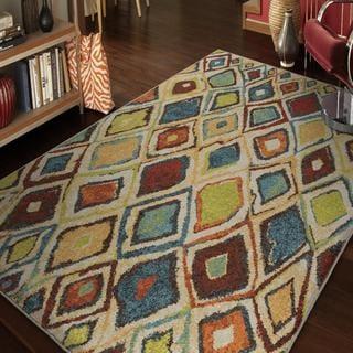 Carolina Weavers Brighton Collection Vivid Sketch Multi Area Rug (6'7 x 9'8)