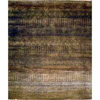 Pasargad Modern Hand-Knotted Charcoal Wool Rug (8' x 10') - 8 x 10