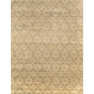 Pasargad Modern Hand-Knotted Ivory-S.Green Wool Rug (8' x 10')