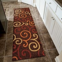 "Carolina Weavers Cocamo Collection Whirlpool Brown Runner (2'3 x 8') - 2'3"" x 8'"