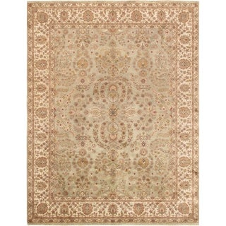 Pasargad Tabriz Hand-Knotted S.Green-Ivory Wool Rug (9' x 12')