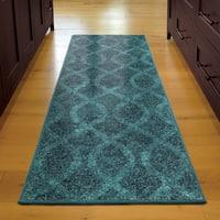 Havenside Home Merrick Coil Blue Runner (2'3 x 8')