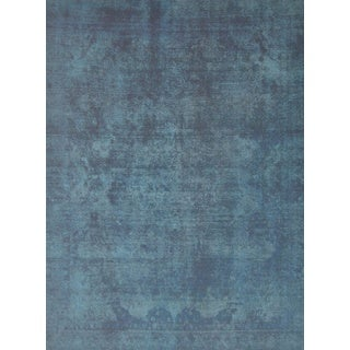 Pasargad Overdye Hand-Knotted Blue-Black Wool Rug (9' x 12') - 9' x 12'