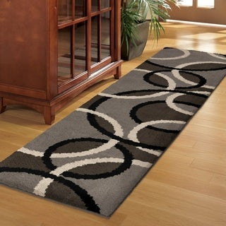 Sherwood Collection Oris Earl Grey Olefin Area Rug (2'3 x 8')