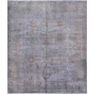 Pasargad Overdye Hand-Knotted Grey Wool Rug (8' x 9')