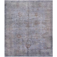 Pasargad Overdye Hand-Knotted Grey Wool Rug (8' x 9') - 8 x 9