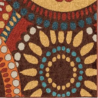 Carolina Weavers Indoor/Outdoor Cocamo Collection Color Spectrum Green Area Rug (6'5 x 9'8)