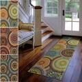 Carolina Weavers Indoor/Outdoor Cocamo Collection Color Spectrum Green Runner (2'3 x 8')