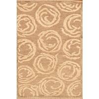 Pasargad Sumak Hand-Knotted Camel Linen Rug (8' x 10') - 8 x 10