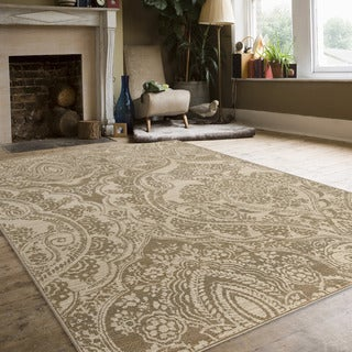 Carolina Weavers Indoor Empress Cream Area Rug (7'10 x 10'10)