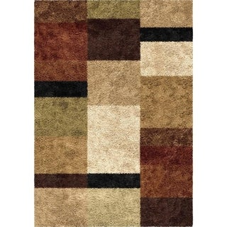 Carolina Weavers Shag Treasure Box Copper Area Rug (5'3 x 7'6)