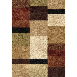 Carolina Weavers Riveting Shag Collection Treasure Club Multi Shag Area Rug (5'3 x 7'6)