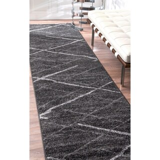 Porch & Den Williamsburg Hope Striped Dark Grey Runner Rug (2'5 x 9'5)