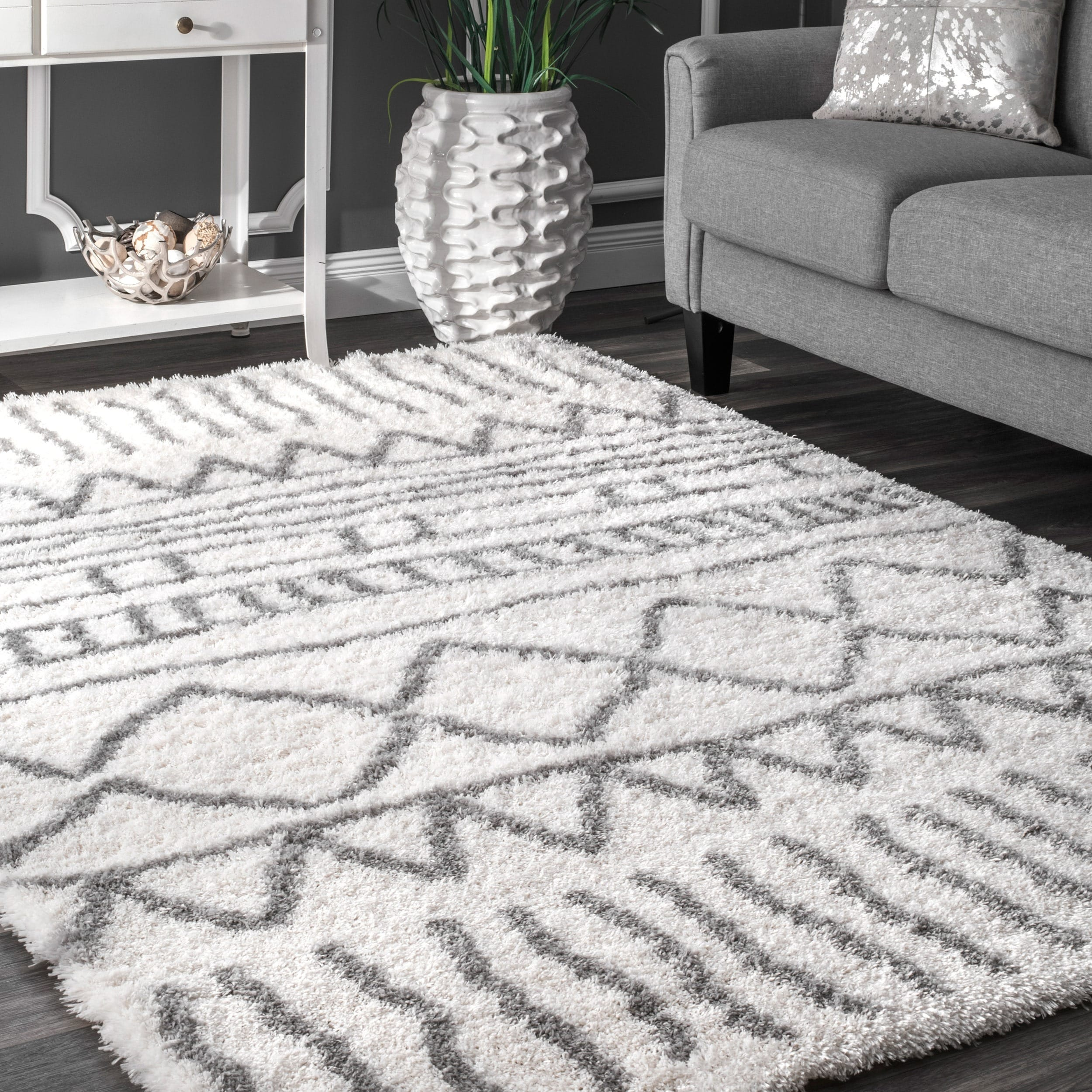 Picture of: The Curated Nomad Delmar Moroccan Trellis Shag Area Rug Overstock 20352123