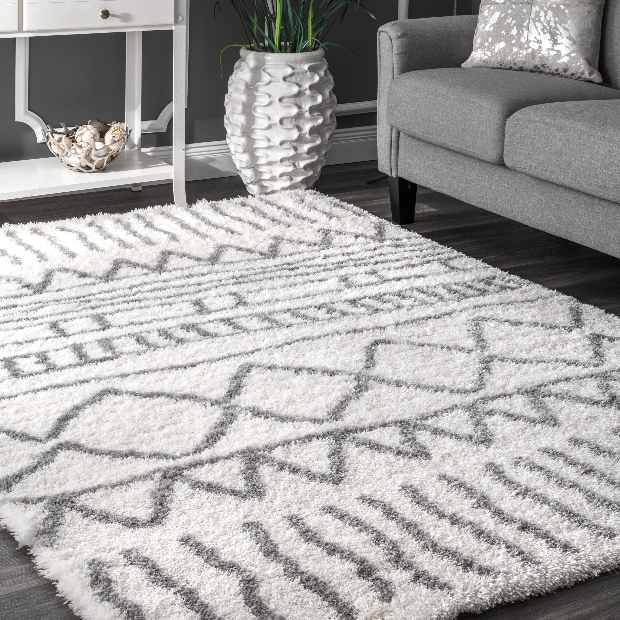 Shop Nuloom Soft And Plush Cloudy Shag Moroccan Geometric