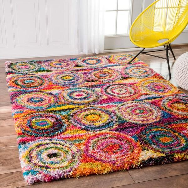 Shop Nuloom Contemporary Abstract Circles Shag Multi Rug