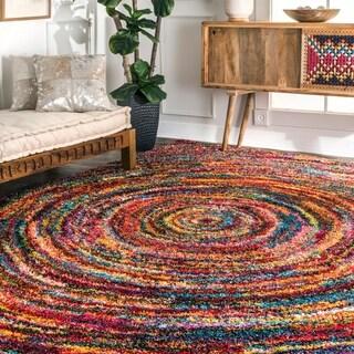 nuloom radiance swirl shag multi rug 4u0027 x 6u0027