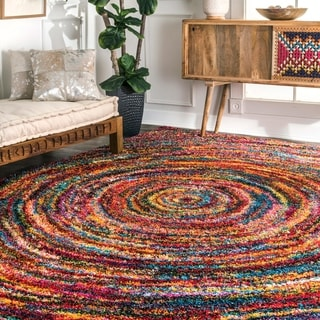 Link to nuLOOM Contemporary Radiance Swirl Shag Area Rug Similar Items in Rugs