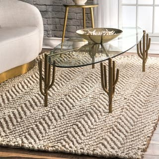 nuLOOM Handmade Eco Natural Fiber Jute Chevron Ivory Rug (7'6 x 9'6)|https://ak1.ostkcdn.com/images/products/11750573/P18666551.jpg?impolicy=medium