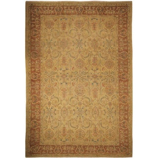 Peshawar Lindsey Gold Hand-Knotted Rug (11'8 x 17'6)