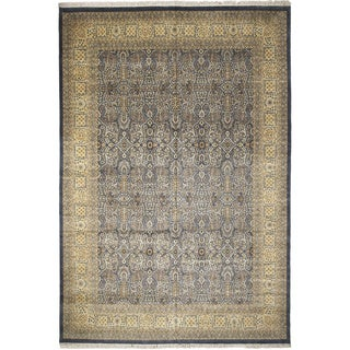 Pak-Persian Kinsey Light Blue Hand-Knotted Rug (11'11 x 17'9)