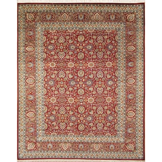 Pak-Persian Willibrord Red Hand-Knotted Rug (9'0 x 12'1)