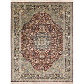 Pak-Persian Benson Red Hand-Knotted Rug (8'1 x 10'2)