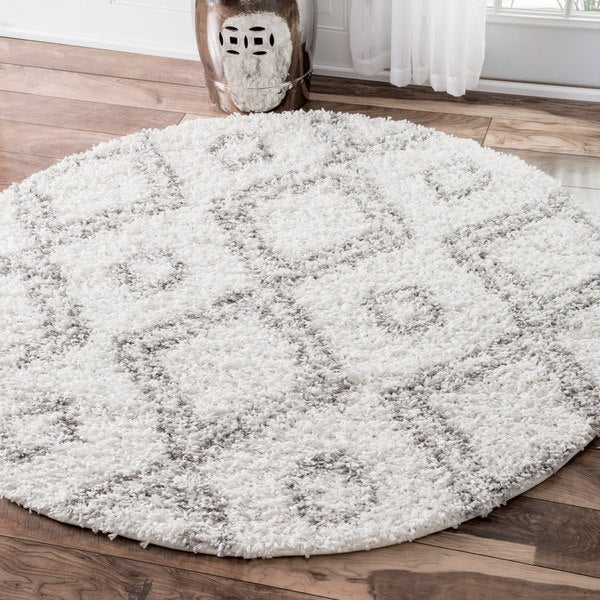 Nuloom Alexa My Soft And Plush White Moroccan Diamond