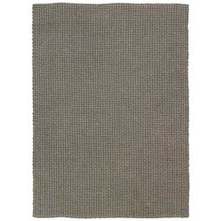 Joseph Abboud Sand and Slate Tweed Area Rug by Nourison (5'3 x 7'4)